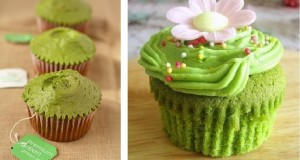 cupcake بالشاي الأخضر!
