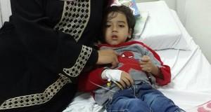 طفل مصاب